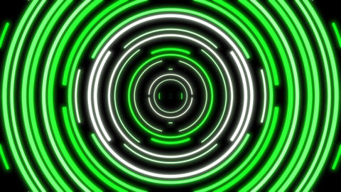 Green And White Cirles Abstract Looping VJ Visual Animation