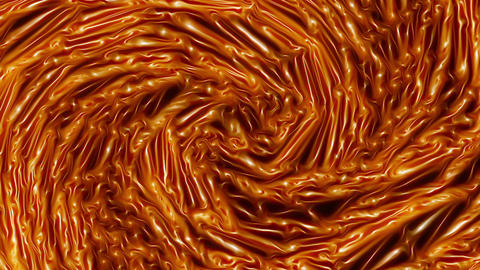 Vortex Of Molten Gold Like Lava Spinning Looping Video Background Animation