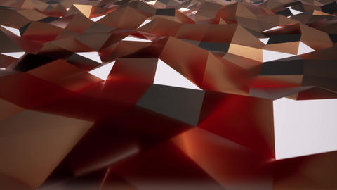 Crystal shiny triangular surface 3d realistic footage Live Action