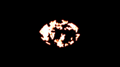 Symbol eye burns out of transparency, then burns again. Alpha channel Premultiplied - Matted with Animation