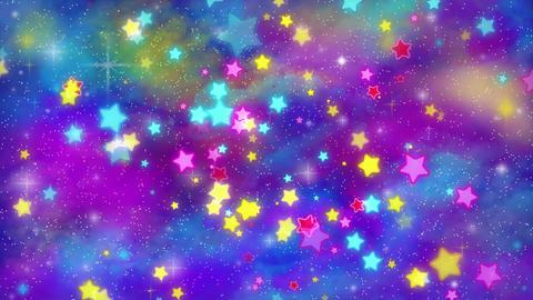ポップでかわいい星(宇宙背景) CG動画