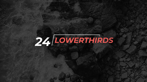 24 Lower Thirds Motion Graphics Template