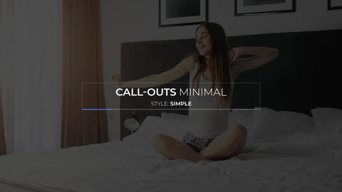 Minimal Call Outs Motion Graphics Template