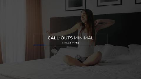 Minimal Call Outs モーショングラフィックステンプレート