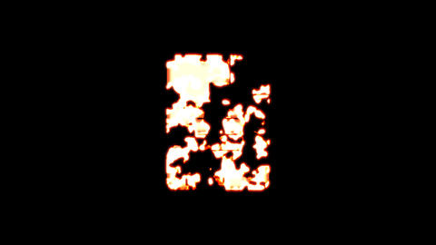 Symbol file text burns out of transparency, then burns again. Alpha channel Premultiplied - Matted Animation