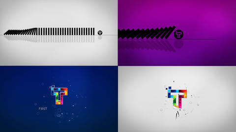Minimal Dynamic Domino Logo Reveal After Effects Template