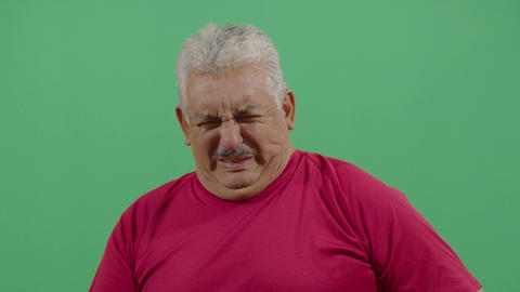 Adult Man Facial Expression Expressing Disgust Footage