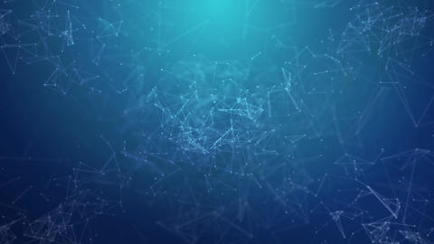 Plexus abstract network background Animation of a growing... Stock Video Footage