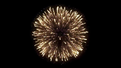 4K. Real abstract blur of real golden shining fireworks Footage