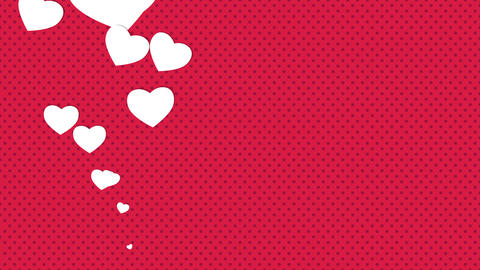 Valentines day shiny background. Animation romantic heart CG動画