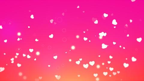 Valentines day shiny background. Animation romantic heart Animation