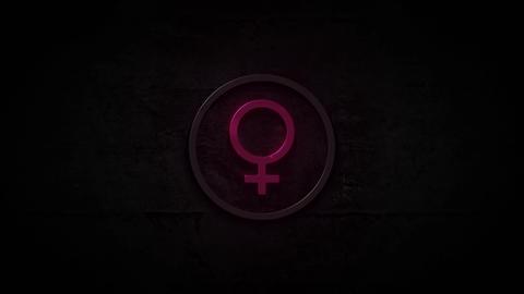 Neon Male Female Logo Background Animation