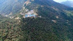 Aerial Himalayas Nepal mountains 4k video. Ghorepani village Footage
