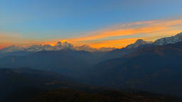 Sunrise Sunset mountains Nature background video 4k Himalayas Nepal peaks Footage
