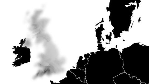 Brexit, the UK's EU referendum - 24 of june 2016 - United Kingdom is erased Animation