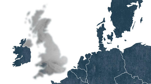 Brexit, the UK's EU referendum - The United Kingdom is erased from the map of EU Animation