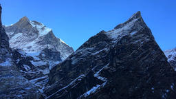 Aerial mountain Himalayas Nepal peak clear sky. Nature landscape HD video Footage