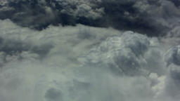 Flight over couds sky. Flying cloudscape nature HD video background Footage