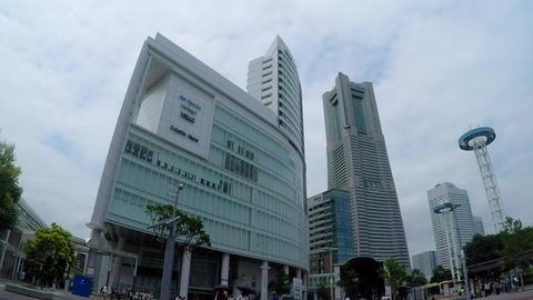 High-rise building in Yokohama/ランドマークタワーを桜木町駅から Footage