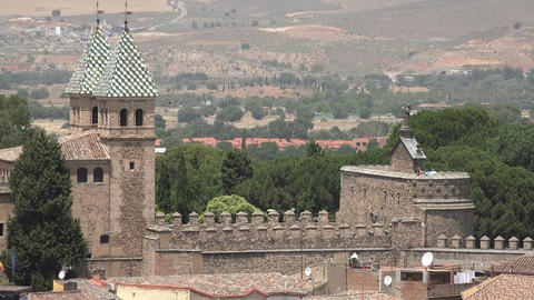 Spanish Castle Walls And Medieval Architecture Live Action