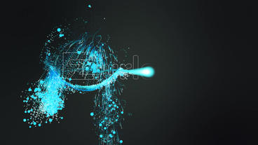 Plus Particle Trails Logo After Effects Project