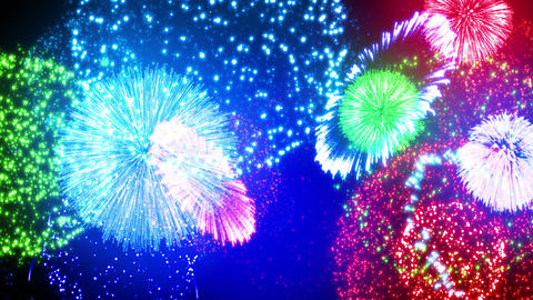 Fireworks Festival 4 Em1 4K Animation