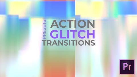 Action Glitch Transitions Premiere Pro Template