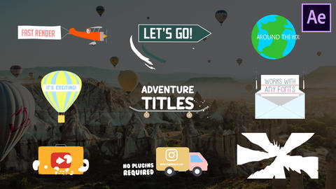 Adventure Titles After Effects Template