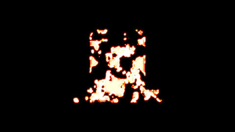 Symbol door closed burns out of transparency, then burns again. Alpha channel Premultiplied - Matted Animation