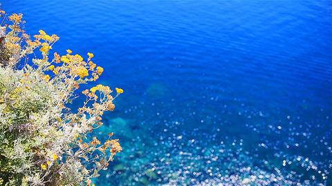 Beautiful coastline at Cinque Terre, Liguria, Italy. Transparent turquoise clear Footage