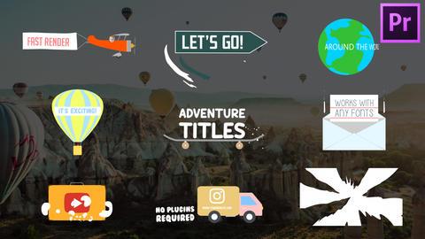 Adventure Titles モーショングラフィックステンプレート