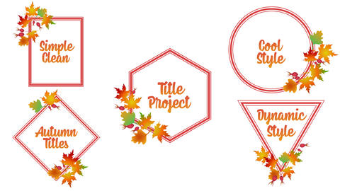 Autumn Titles After Effects Template