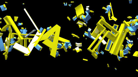 4K Plastic Text Bumper 1 Animation