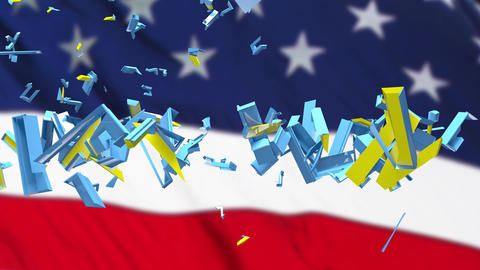 4K US President Impeachment 3 Animation