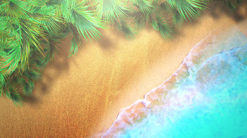 Closeup sandy beach with blue waves of ocean, summer background Videos animados