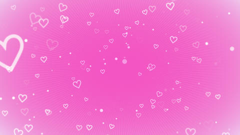 Valentines day shiny background. Animation romantic heart Videos animados