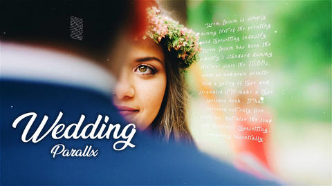 Wedding Parallax After Effects Template