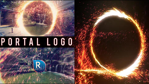 Portal Logo Reveal After Effects Template