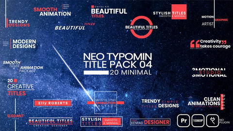20 Typomin Title Pack 04 After Effects Template