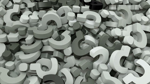 3d grey question marks falling background Videos animados