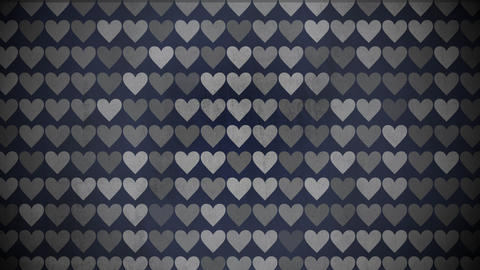 Motion colorful hearts pattern, abstract background Videos animados