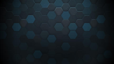 Motion dark blue hexagon abstract background Animation