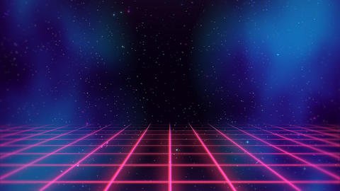 Motion retro red lines in space, abstract background Videos animados