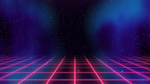 Motion retro red lines in space, abstract background 스톡 비디오 클립, 영상 소스, 스톡 4K 영상