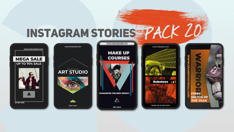 Instagram Stories Pack 20 After Effects Template