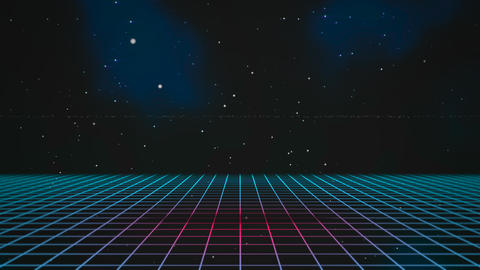 Motion retro blue lines in space, abstract background Videos animados