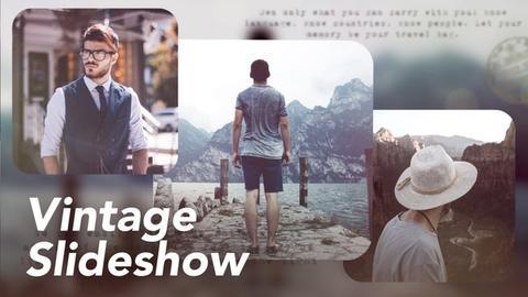 Vintage Slideshow Premiere Proテンプレート