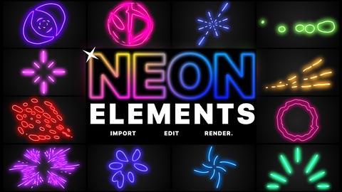 Neon Elements Premiere Pro Template