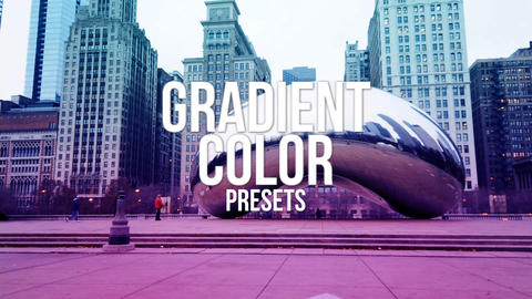 Gradient Color Presets Premiere Pro Template