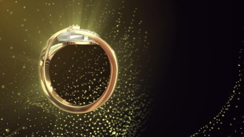 Diamond Ring Background 4K (Loop A) Footage